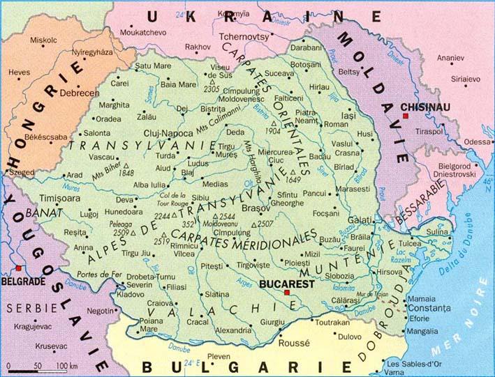 carte europe roumanie